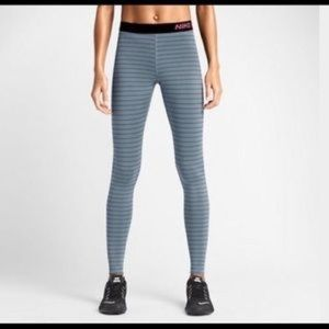 Nike pro striped leggings. Women's small.
